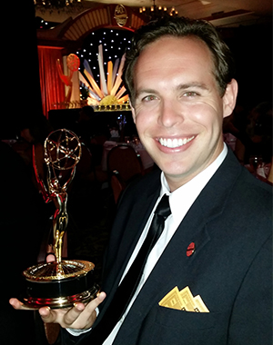 Director Tostado with Emmy Award